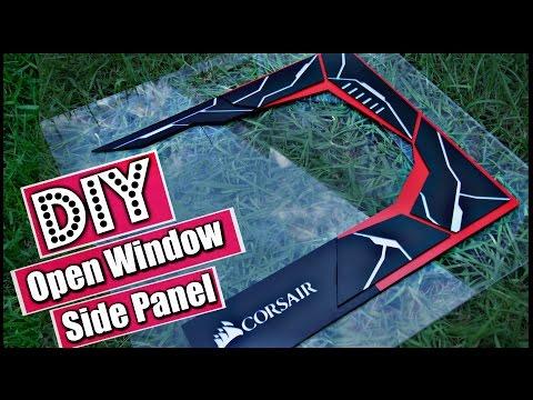 DIY Custom Acrylic Side PANEL / Open Window – PC Modding – How to Make a Side Panel Open Window