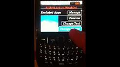 Theme de deverouillage de iphone pour bb 8520