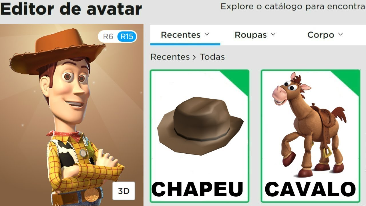COMO VIRAR O WOODY DO TOY STORY 4 NO ROBLOX