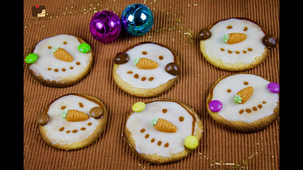 Schneemann kekse food advenstkalender auch toll um mit kindern zu dekorieren youtube - Kekse dekorieren ...
