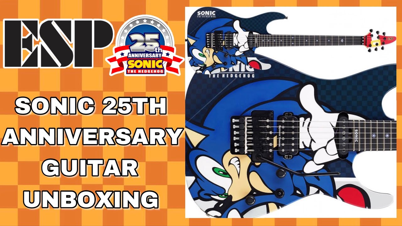 esp sonic the hedgehog 25th anniversary guitar unboxing youtube. Black Bedroom Furniture Sets. Home Design Ideas