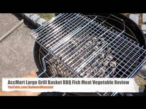 AccMart Large Grill Basket BBQ Fish Meat Vegetable Review