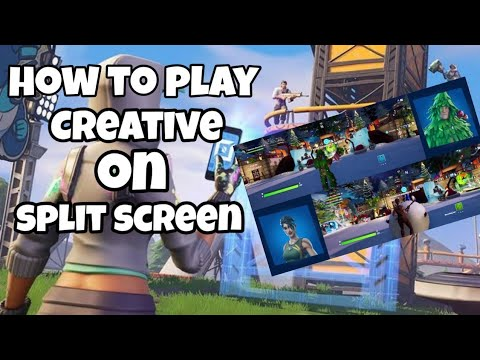 How To Play Creative On Split Screen *NOT CLICK BAIT*