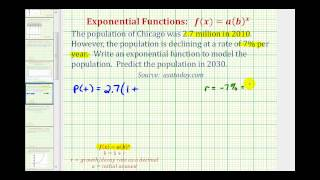 Exponentialfunktion, Anwendung (y=ab^x) - Bevölkerungsrückgang von Chicago