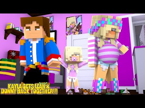 Minecraft CAN PRINCESS BABY KAYLA GET HER PARENTS BACK TOGETHER??? w/ LITTLE LEAH & LITTLE DONNY