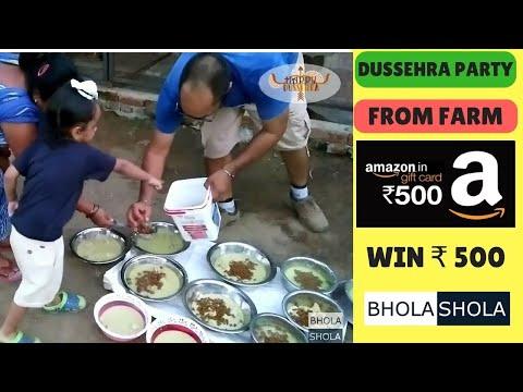 Dussehra Festival Celebration at Grewal Farm - Food Treatment For Dogs - Bhola Shola