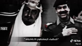 تصميم الملك فيصل وصدام حسين