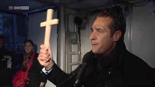 HC Strache mit Kreuz