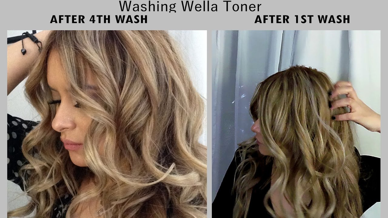 Wella hair color before after