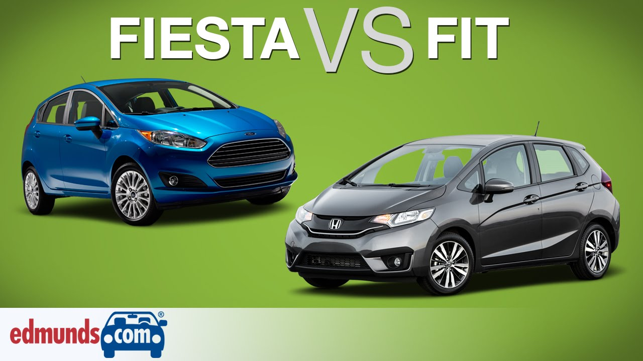 2015 ford fiesta vs 2015 honda fit two sub compacts face for Honda fit vs civic