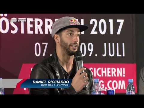 Media Talk mit Daniel Ricciardo und Max Verstappen