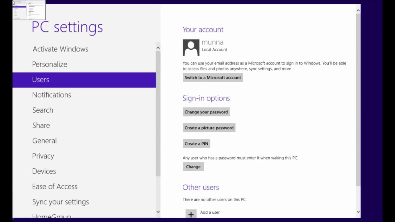 how to remove login password windows 8.1