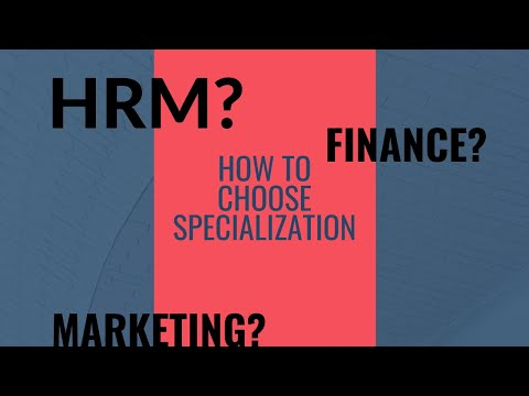 HRM, Marketing Or Finance. Select Appropriate Specialization.
