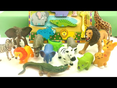 Learn Zoo Animals With Melissa & Doug Wooden Puzzle/Toy Animal Surprises/Pretend Play Microwave H