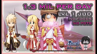 1.3 Million Zeny per Day ~ Jud High Priest's Best Farming Spot? No Foods & Pots - Ragnarok Mobile