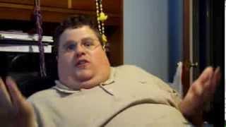 Fat Guy screaming fuck you