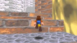 Banjo Kazooie in Mario Castle Grounds