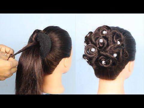 New Easy Wedding/Party Hairstyles || cute hairstyles 2019 || hairstyles for girls thumbnail