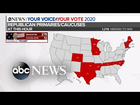 Trump continues to sweep Republican primaries and caucuses l ABC News