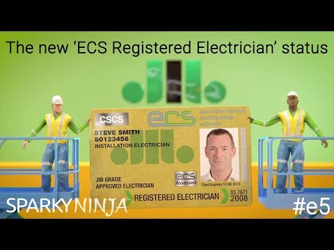 The new 'ECS Registered Electrician' status | #e5