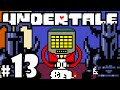 UNDERTALE Blind Gameplay Playthrough PART 13 - VS Royal Guards Boss Fight, Mettaton News, Hotland