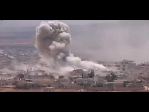Атака России на террористов в Сирии. Новое видео.