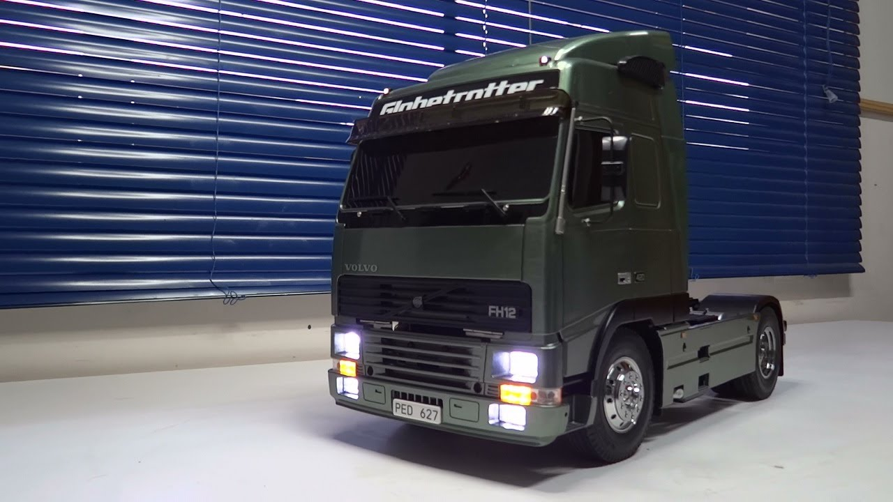 Super Scale RC truck Volvo FH-12 by TAMIYA with Sound Lights Smoke