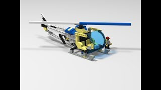 LEGO CUSTOM - LEGOMAN BELL 47 VER 1.0  HELICOPTER - PHOTOS, SPEED BUILD, BUILDING INSTRUCTION