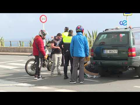 Un motorista, ha sido trasladado al hospital tras un accidente en el Recinto