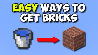 EASIEST Ways To Gęt BRICKS In Minecraft - The Ultimate 1.16 Brick Guide