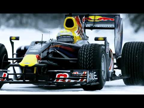 F1 car on frozen lake - Red Bull Racing returns to Quebec