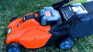 My B&D Cordless Battery Powered Electric Mower Test Drive Part I of II