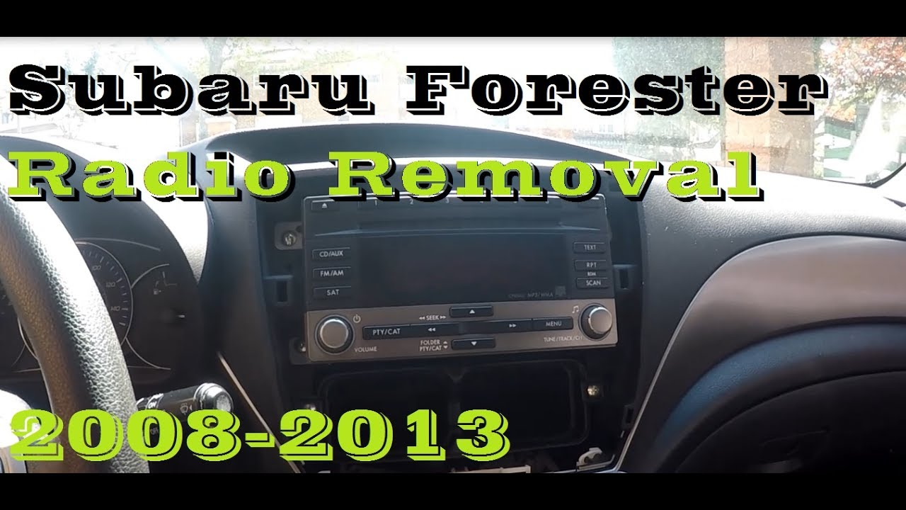 How To Remove Radio In Subaru Forester 2008 2013 Youtube Trailer Hitch Wiring Harness Crosstrek