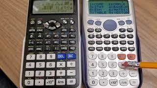Casio fx-115ES PLUS vs. Casio fx-991EX CLASSWIZ