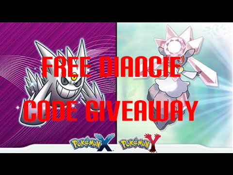 Free diancie code giveaway pokemon x and y