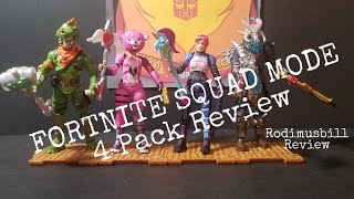 FORTNITE SQUAD MODE 4 Pack Action Figure Review