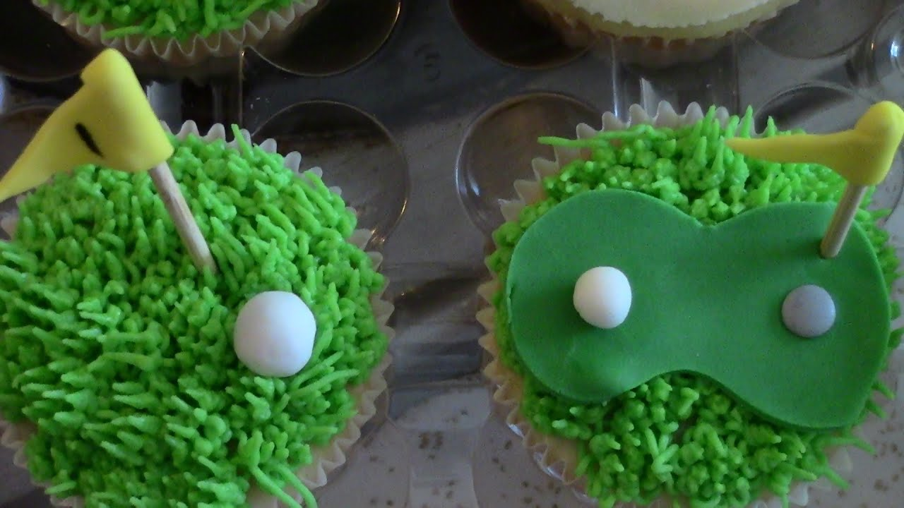 Father S Day Golf Themed Cupcakes Golf Decorations For