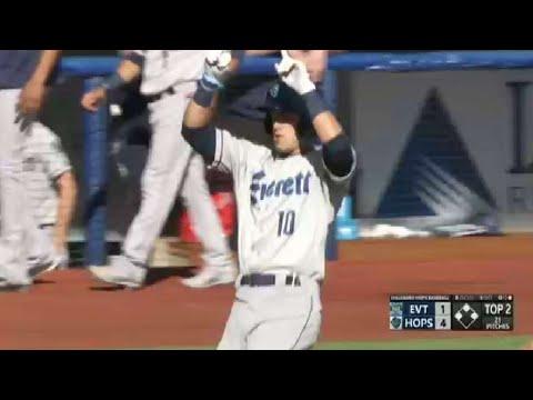 Everett's White hits first homer