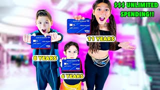 We GAVE Our CREDIT CARDS To Our KIDS & They Bought UNLIMITED Things!! **BAD IDEA** | Familia Diamond