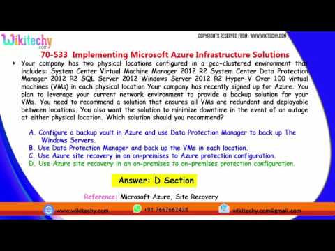 Microsoft 70 533 Exam Implementing Microsoft Azure Infrastructure Solutions    part 2
