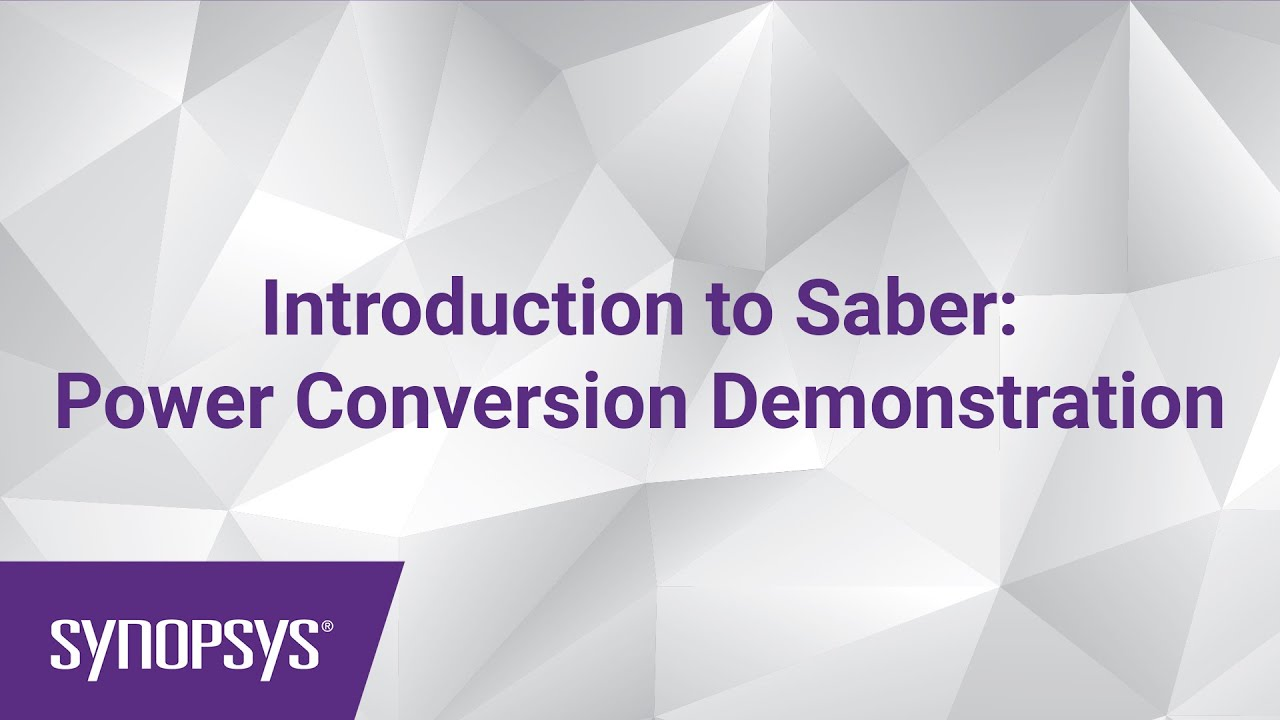 Introduction To Saber Power Conversion Demonstration Youtube Circuit Diagram Of Basic Flash Memory Programming Voltage Supply