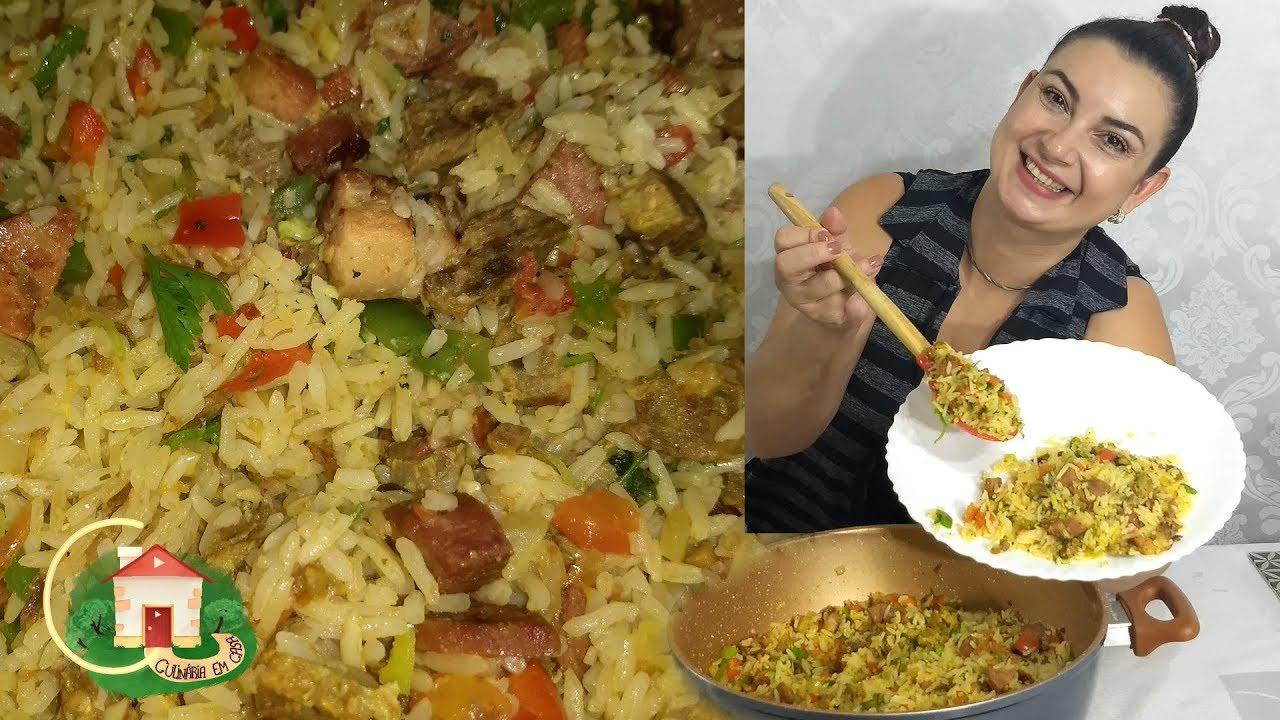 ARROZ CARRETEIRO ALMOÇO FÁCIL E RÁPIDO - PRATICO - Culinária em Casa