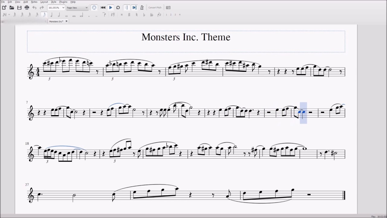 Clarinet Notes Monster