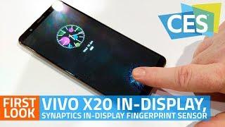 Vivo X20 Plus Under Display, Synaptics In-Display Fingerprint Sensor First Look