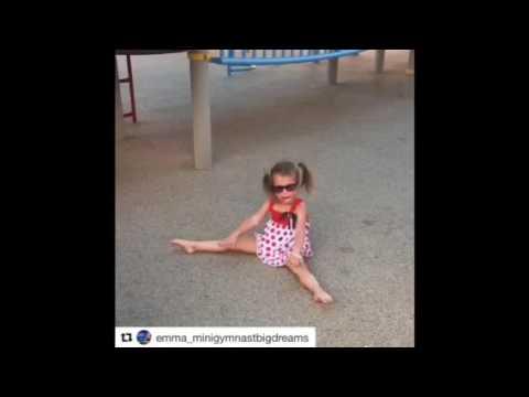 Emma mini GYMNAST big dreams amazing 4 years old
