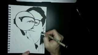 Magnifying Glass Time Lapse Drawing