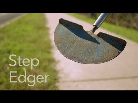 How to Use a Step Edger : Garden Tool Guides