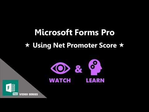 Using Net Promoter Score - Microsoft Forms Pro