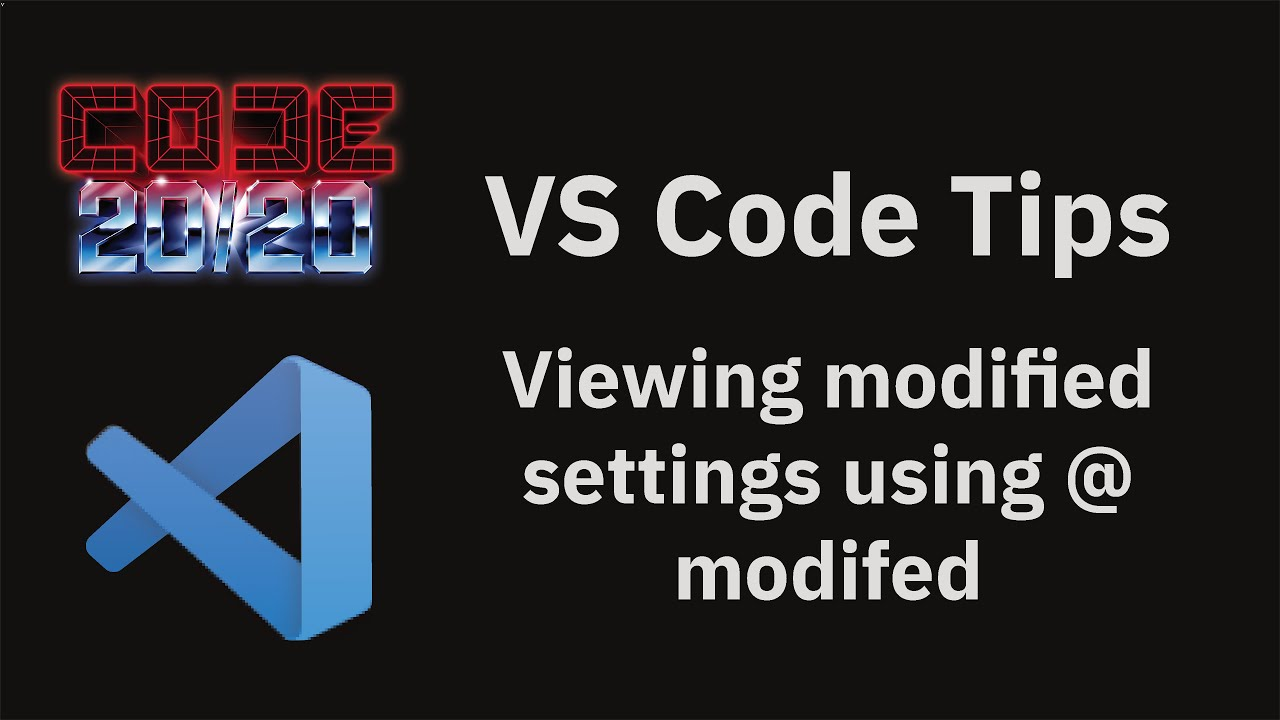 Viewing modified settings using @modifed