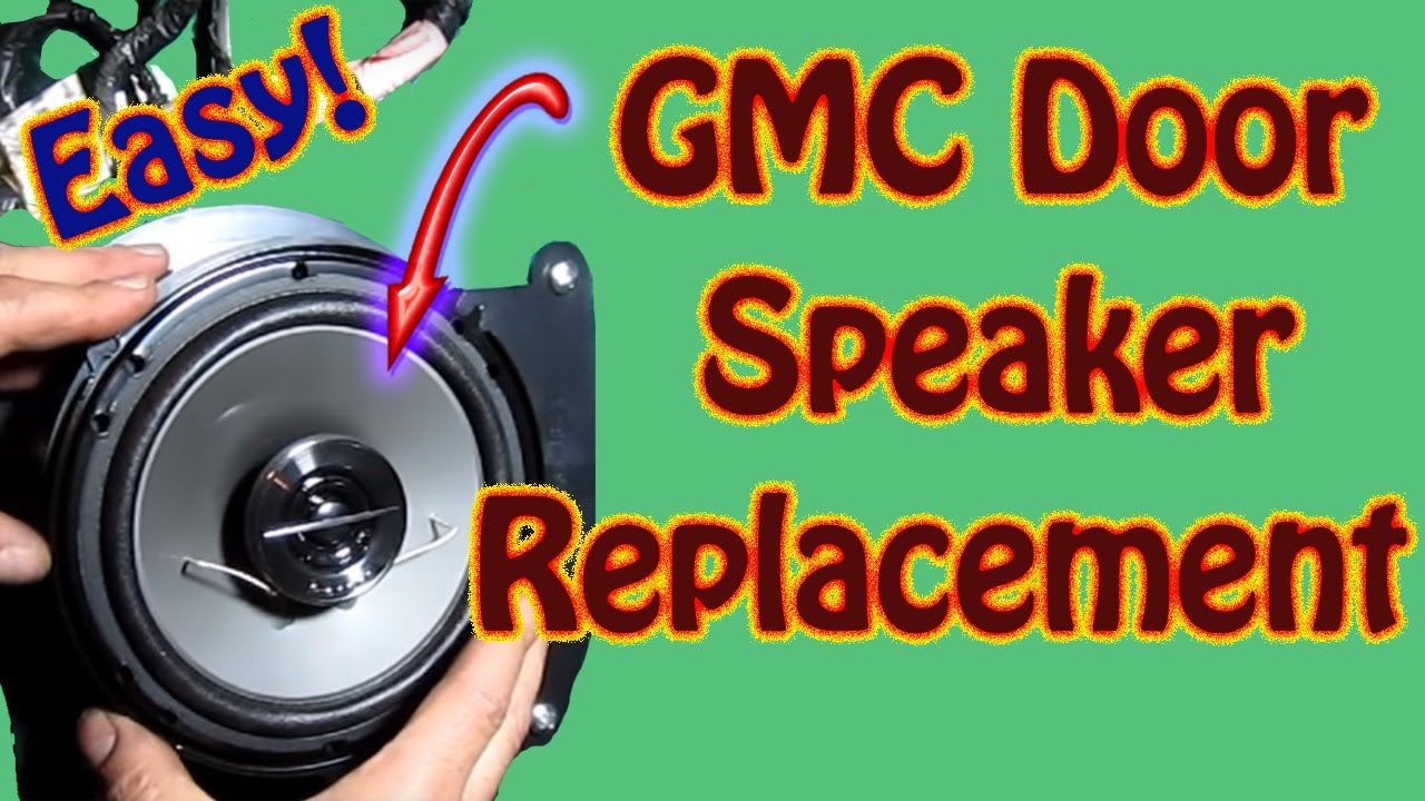 hight resolution of how to replace front door speaker diy pioneer ts g1644r 6 5 speakers chevy blazer gmc jimmy s10 youtube